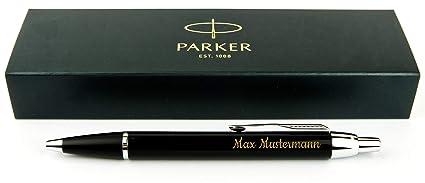 Geschenkfreude Parker IM Kugelschreiber mit Gravur hochwertig/bestandene Prüfung Geschenk/personalisierte Geschenke/blauschre