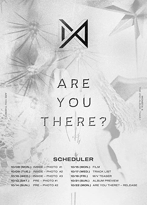 monsta x monsta x take 1 are you there 2nd album random cd R P Re 2nd album random cd poster 148p photo book 2p photo card pre order item tracking number k pop sealed amazon music