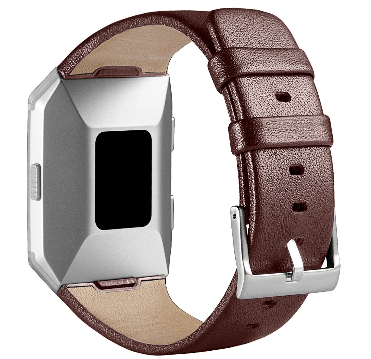 For Fitbit Ionic帯、treasuremax Genuineレザー交換用バンドアクセサリーfor Fitbit Ionic Smartwatch Staps Large(6.7