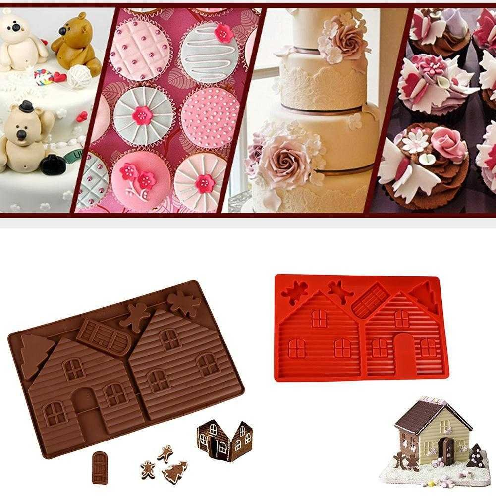 Taloyer Christmas Mini Gingerbread House Mold 3D Cake Cupcake Cookies Cutter Mould DIY Baking Decorating Tools (Random)) by Taloyer (Image #7)