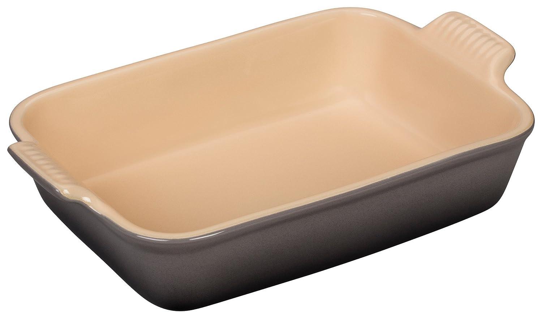 Le Creuset White Stoneware 12X9 Rectangular Dish 4 Quart