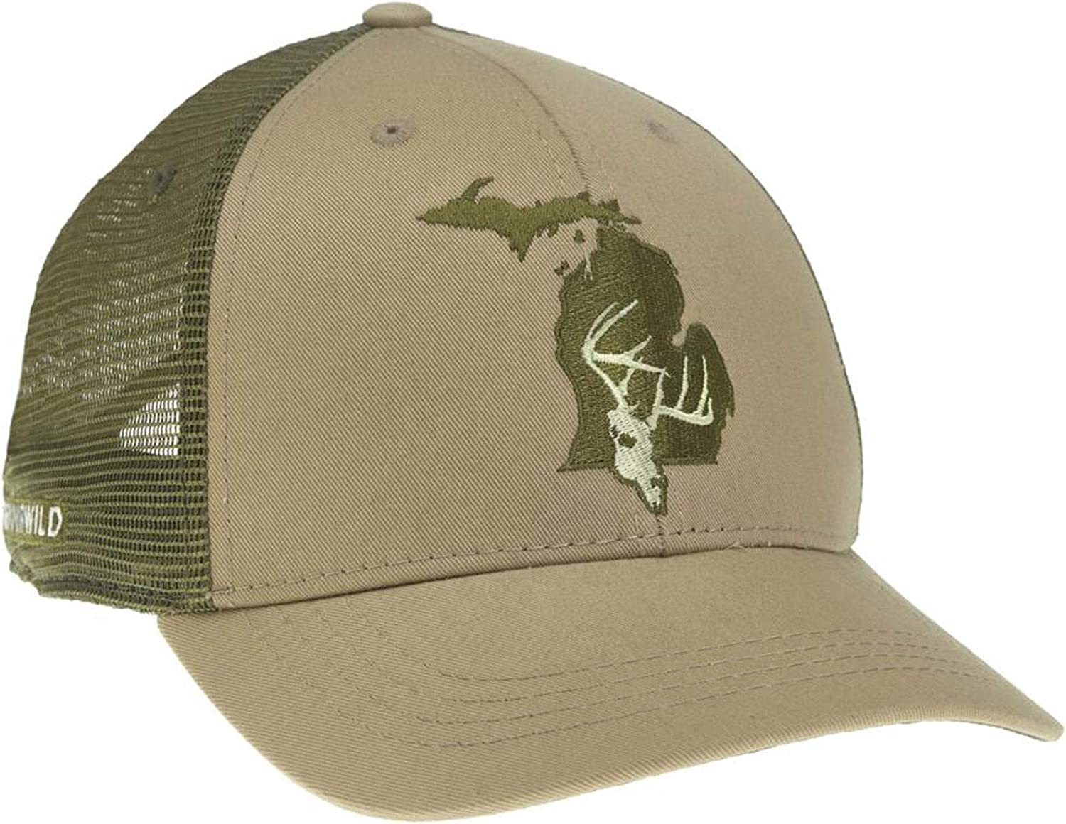 RepYourWater Michigan Whitetail Hat Tan//Green