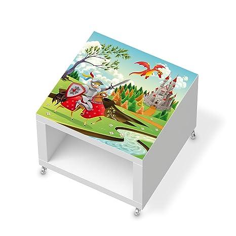 Muebles de protector de pantalla para Ikea Lack – Mesa auxiliar con ruedas, pegatinas Niños