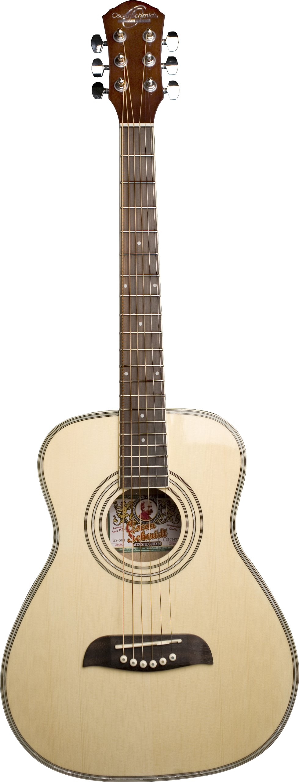 Oscar Schmidt OGHS-A-U 1/2 Size Dreadnought Acoustic Guitar (High Gloss)