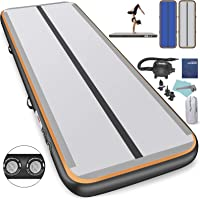 Air Track 3,4,5,6m Airtrack Gymnastics Mat 15/20cm Thick Inflatable Air Track Tumbling Mat with Electric Air Pump for Home, Tumble Gym, Training, Cheerleading, Parkour, Martial Art, Beach, Park, Pool