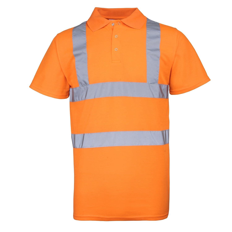 Amazon Rty High Visibility Mens High Vis Polo Shirt Work