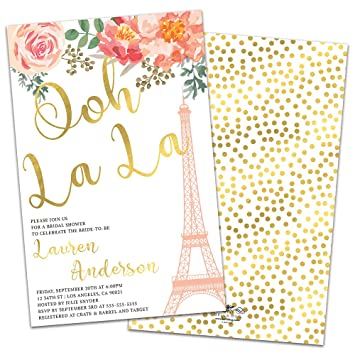 oh la la personalized bridal shower invitations