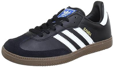 b115d5526 adidas Originals Unisex-Child Samba CL K Trainers G00844 Black/White/Gum  13.5