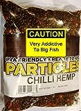 Natural Hemp + Chilli Particles Mix. PVA Friendly Prepared Bait - 400g Includes FREE PVA Bag