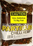 Natural Hemp + Chilli Particles Mix. PVA Friendly Prepared Bait - 400g Includes FREE PVA Bag
