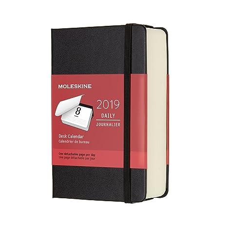 Moleskine Classic Hard Cover 2019 12 Month Daily Planner, Pocket Size Desk Calendar (3.5