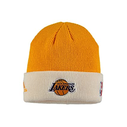 72c36d2dff4 Image Unavailable. Image not available for. Color  adidas NBA Los Angeles  Lakers Team Cuffed Knit Beanie ...
