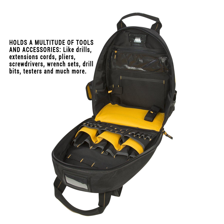 DEWALT DGL523 Lighted Tool Backpack Bag, 57-Pockets by DEWALT (Image #7)