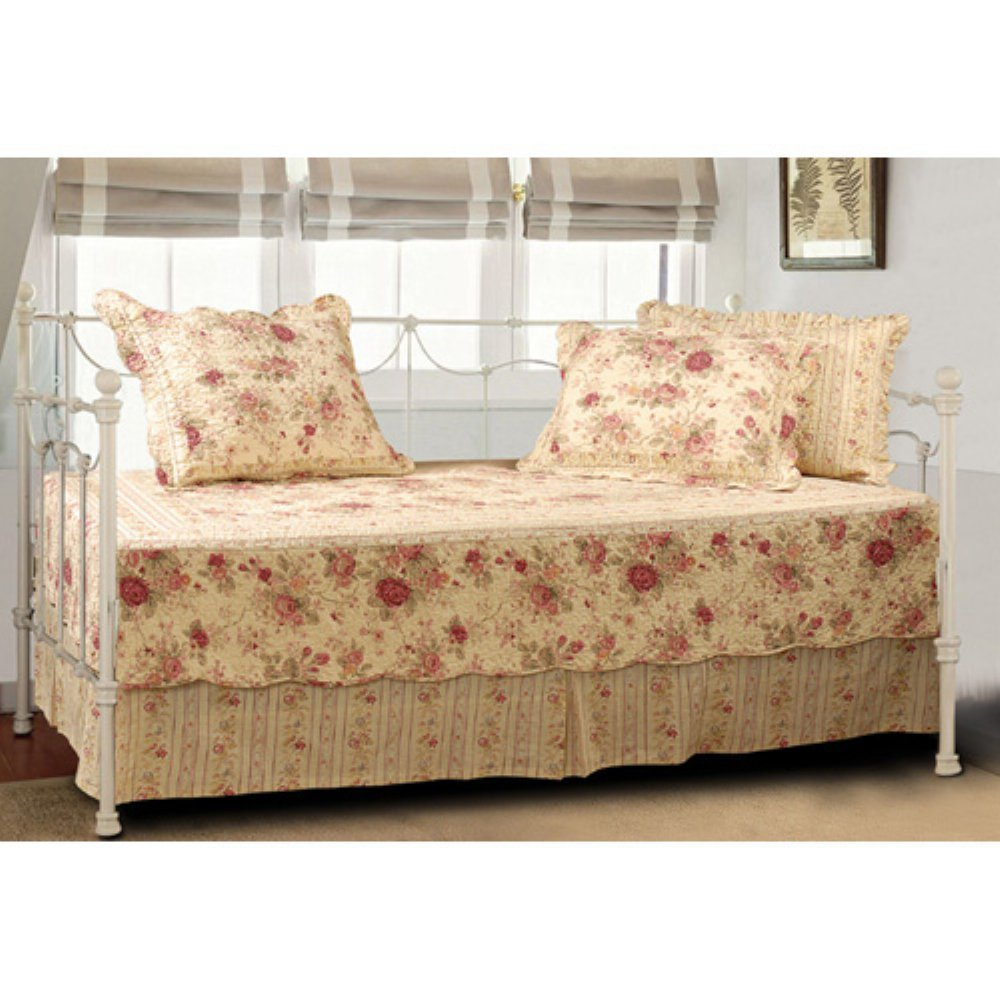 Antique Rose 5 Piece Daybed Set Greenland Home Fashions GL-WB0429DB