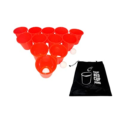 Trademark Innovations Giant Outdoor Pong Lawn Yard Game: Sports & Outdoors