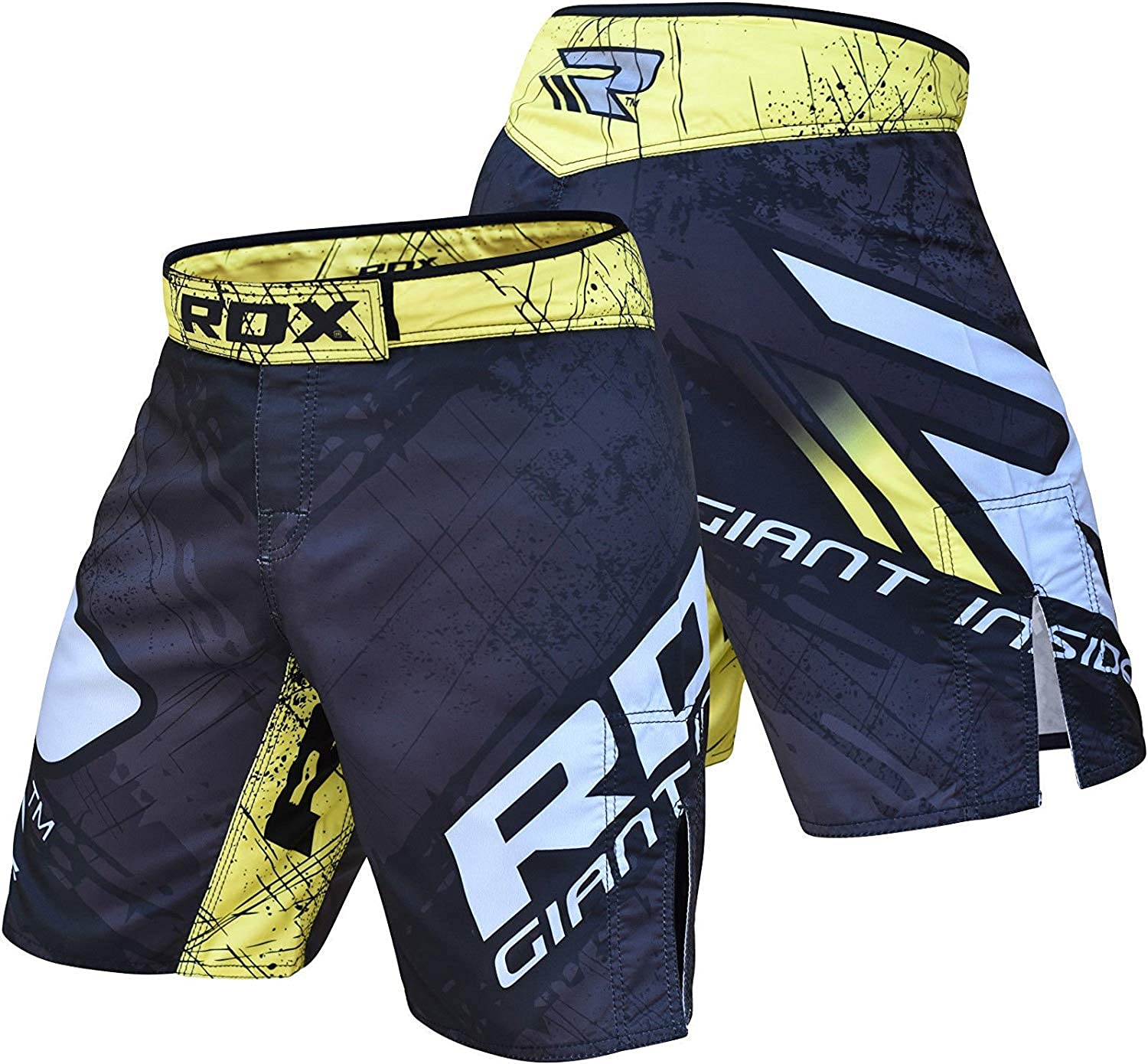 RDX MMA Shorts for Grappling Martial Arts Training Cage Fight Sparring Breathable Fighting Trunks for Kickboxing Combat and Gym Exercises Boxing