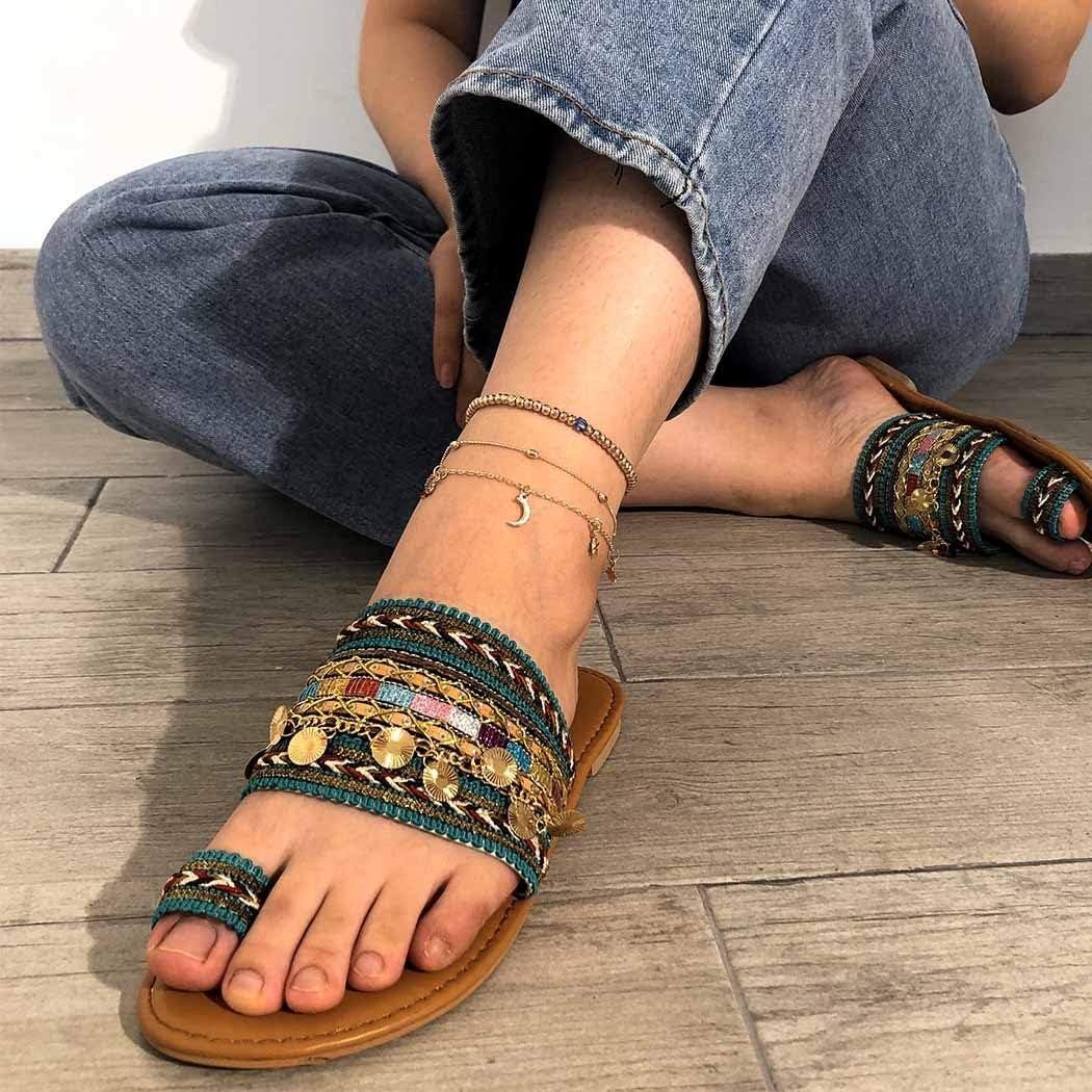 Sethexy Boho En couches Bracelet de cheville Lune dor Multicouche /Étoiles Croissant Pendentif Cha/îne de pied boh/émien Perles Bijoux de pied pour les femmes et les filles