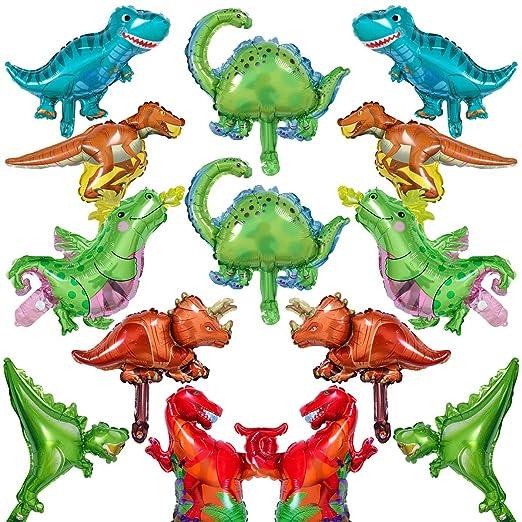 BESTZY Dinosaurio Globo 14pcs Mascota Foil Balloons Globos Pelotas Sets De Decoración para Fiesta Bodas Decoracion de Fiesta de Cumpleanos Regalo de ...