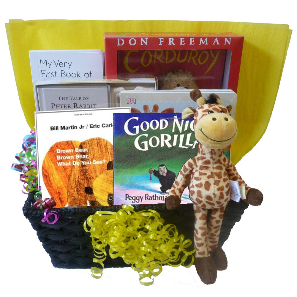 Amazon.com : Gifts Fulfilled Classic Baby Books Gift Basket of ...