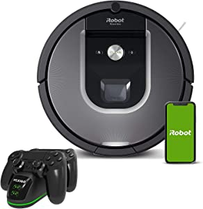 iRobot Roomba 960 Robot Vacuum Holiday Bundle, Wi-Fi Connected Vacuuming Robot, Compatible with Alexa, Smart Mapping for Pet Hair, Carpets, Hard Floors + NexiGo PS4 Controller Charging Station Bundle