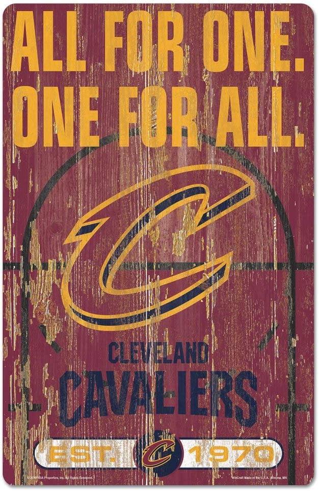 "WinCraft NBA Cleveland Cavaliers 72526010 Wood Sign, 11"" x 17"", Black"
