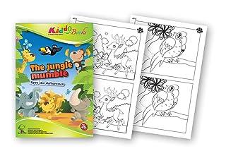 QuackDuck libro da colorare The Jungle Mumble - Hype della giungla - Spot The Difference - Trova la differenza - Blocco per bambini a partire dai 5 anni