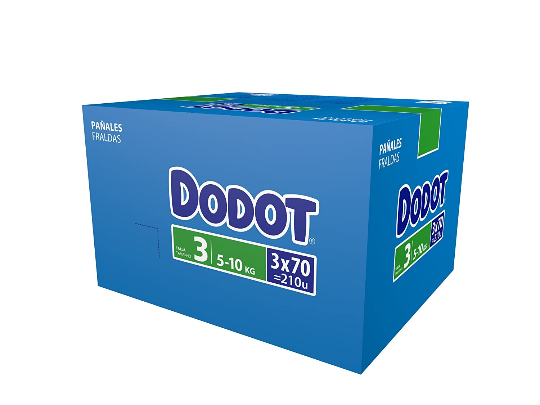 Dodot Pañales Talla 3 (5-10 Kg) - Paquete de 3 x 70 Pañales - Total: 210 Pañales: Amazon.es: Amazon Pantry