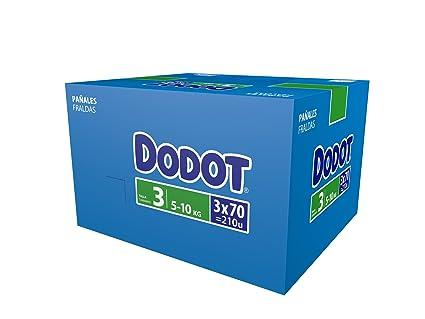 Dodot Pañales Talla 3 (5-10 Kg) - Paquete de 3 x 70