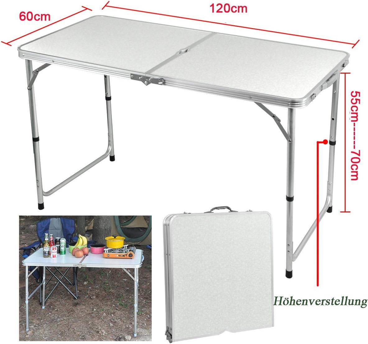 Yahee365 Aluminio Plegable – Mesa Mercadillo de Viaje de Camping ...