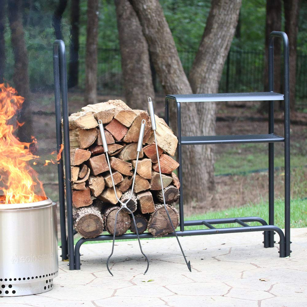Solo Stove Station - 4 Foot Log Rack for Firewood & Outdoor Storage | Wood Rack Heavy Duty Waterproof Powder Coat Finish | Firewood Rack Log Holder Stand for Outdoor Patio Fireplace by Solo Stove