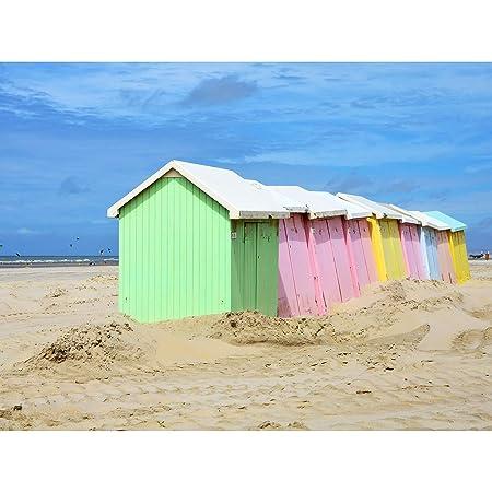 Gzzz Colourful Beach Huts Berck Pas De Calais France Photo ...