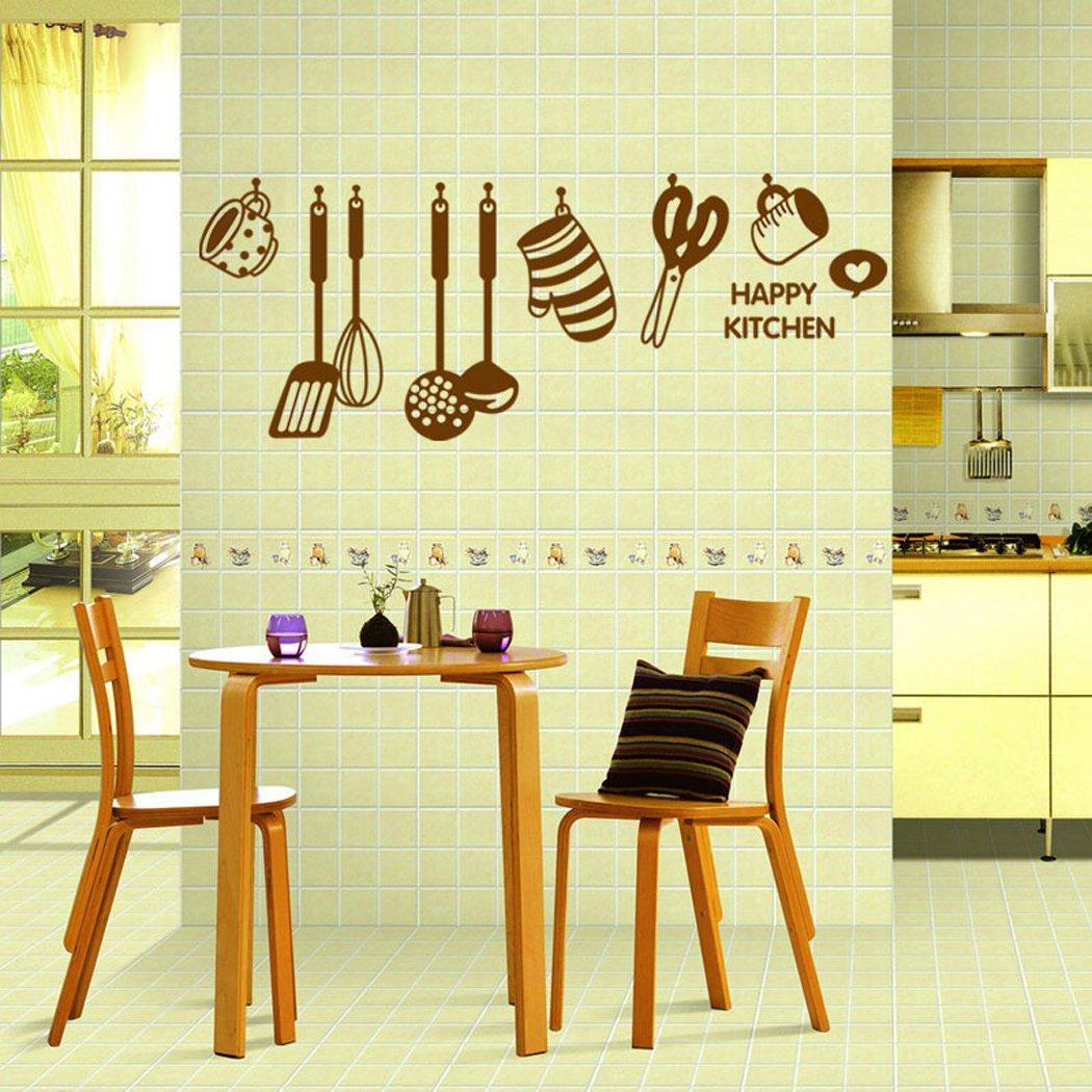 Amazon.com: Wall Sticker, Outgeek Wall Decal DIY Removable Happy ...