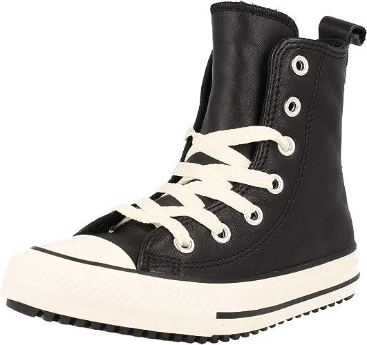 Converse Chuck Taylor All Star X Hi Zwart Leer Jeugd Mode