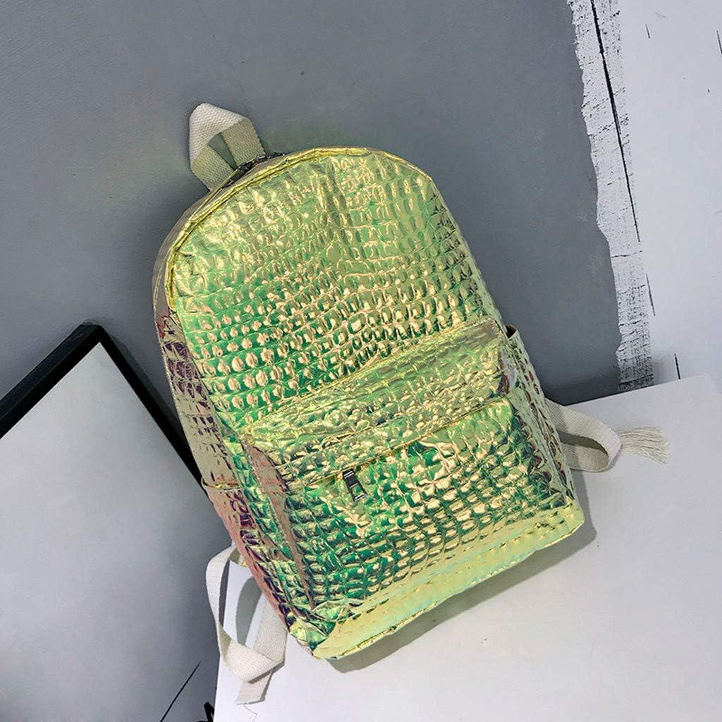 Adagod Shinning Backpack Fashion Women Laser School Bag Backpack Stone Pattern Girl Travel Shoulder Bag