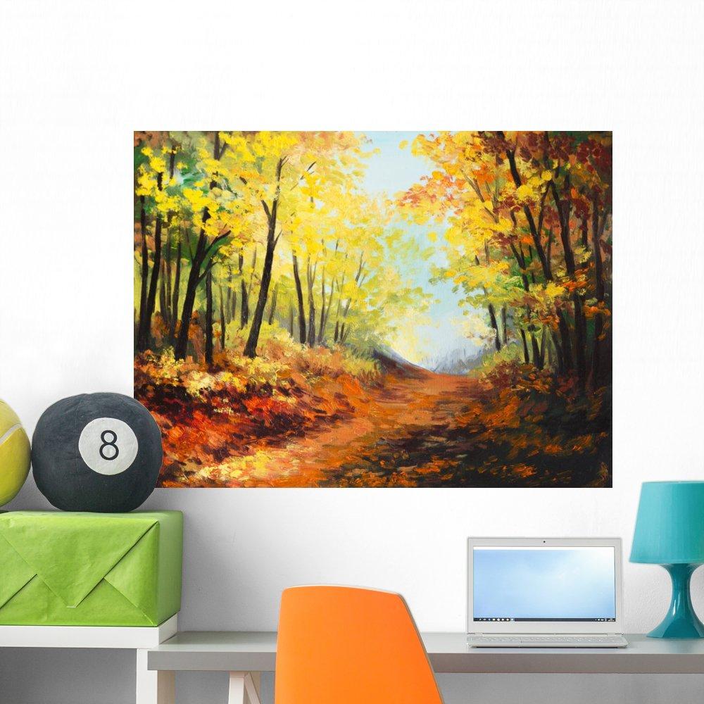 Amazon.com: Wallmonkeys Oil Painting Landscape Colorful Wall Mural ...