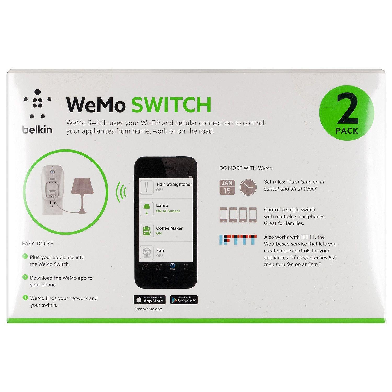 Amazon Wemo 2 Pack Switch Wi Fi Smart Plug Control Lights