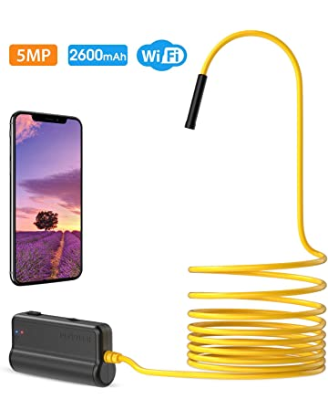 iPhone Samsung Android 10M Laptop -32.8ft PiAEK WiFi Inspection Camera Waterproof Wireless Endoscope Semi-rigid 1200P HD Snake Soft Wire Borescope Compatible with Tablet MAC IOS Smartphone