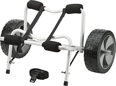 Kayak and Canoe Cart, Large-Diameter Wheels, No-Deflate Tires, Carries Up to 100 Pounds