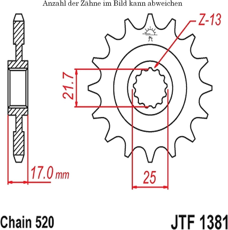 JT Moto Pignon 16 dents Division 520 jtf1381.16