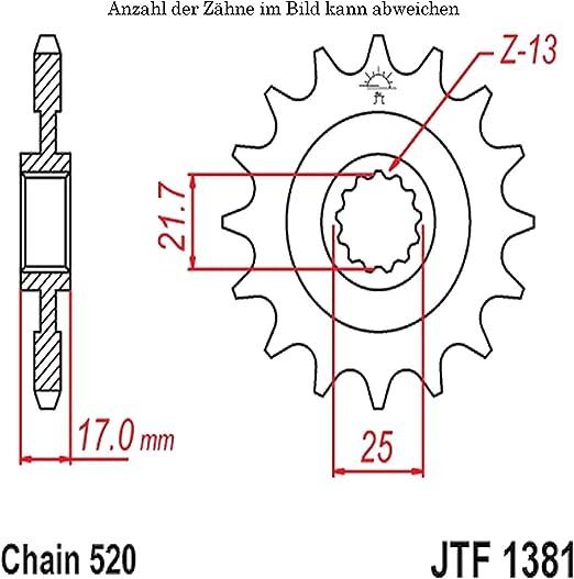 Ritzel 16 Zähne Für Cb 500 X Baujahr 2015 Von Jtsprockets Auto