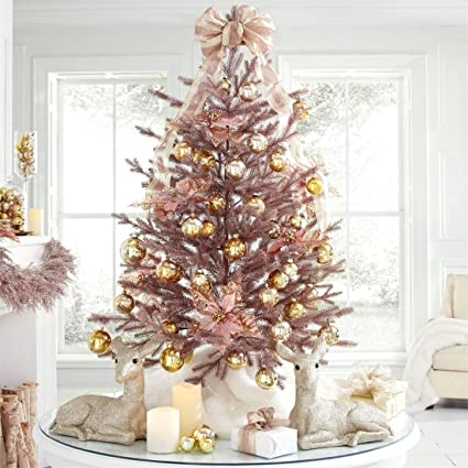 BrylaneHome 4' Rose Gold Christmas Tree (Rose Gold ... - Amazon.com: BrylaneHome 4' Rose Gold Christmas Tree (Rose Gold,0