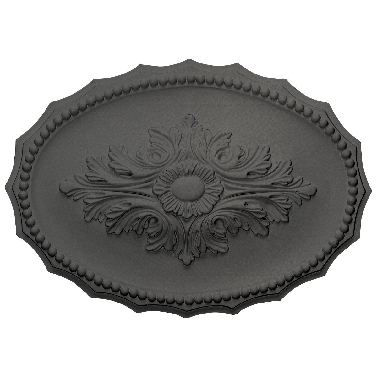 Ekena Millwork CM16OXSGS Oxford Ceiling Medallion, Steel Gray