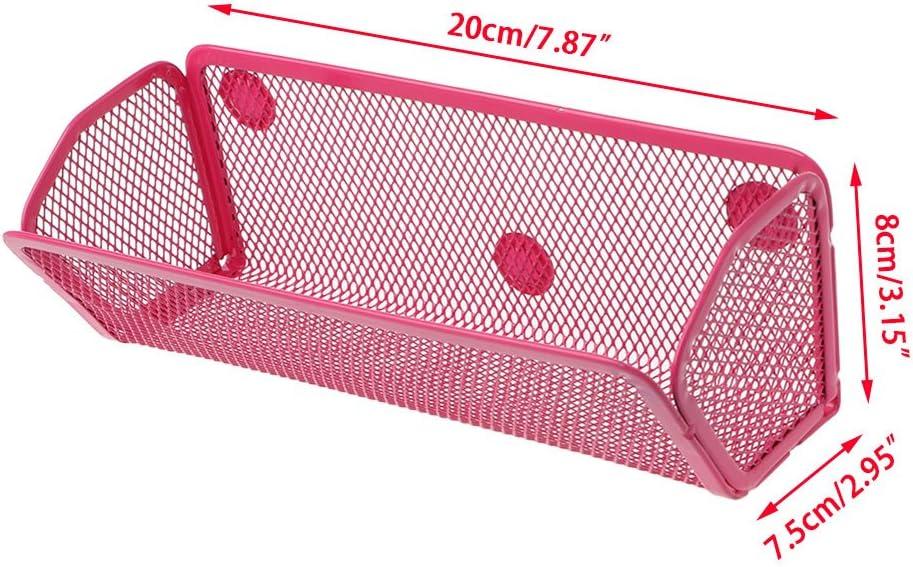 Wuweiwei12 de la salle de bain Taille unique Red Panier de rangement magn/étique en m/étal amovible en fer pour r/éfrig/érateur four /à micro-ondes /à suspendre sur le c/ôt/é de la cuisine