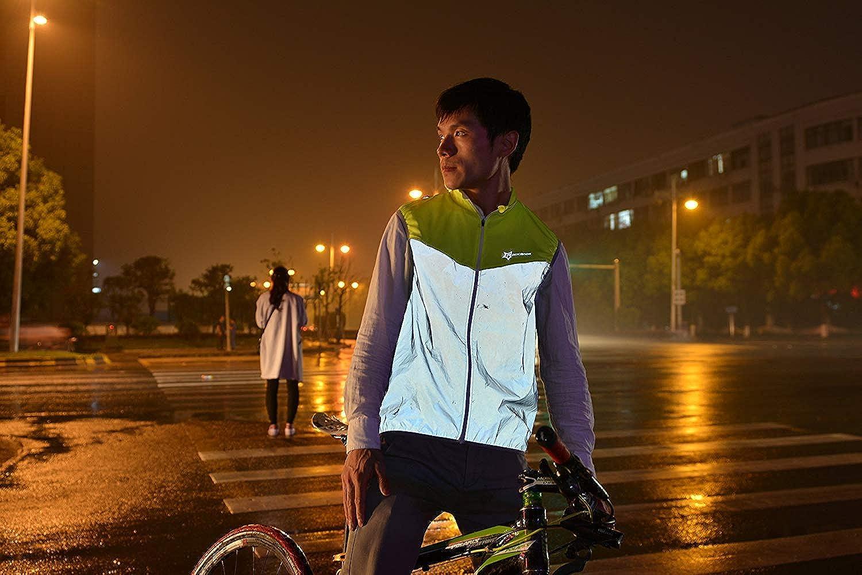 ELEYHO Fahrrad Gilet Atmungsaktiv Fahrradweste Winddicht Unisex Laufweste Reflektierende /Ärmellose Jacke F/ür Sport Im Freien Bis Zu 85 Kg,Ma,XXS