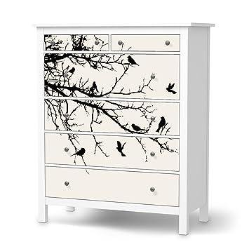 Möbelfolie für IKEA Hemnes Kommode 6 Schubladen | Deko-Folie ...