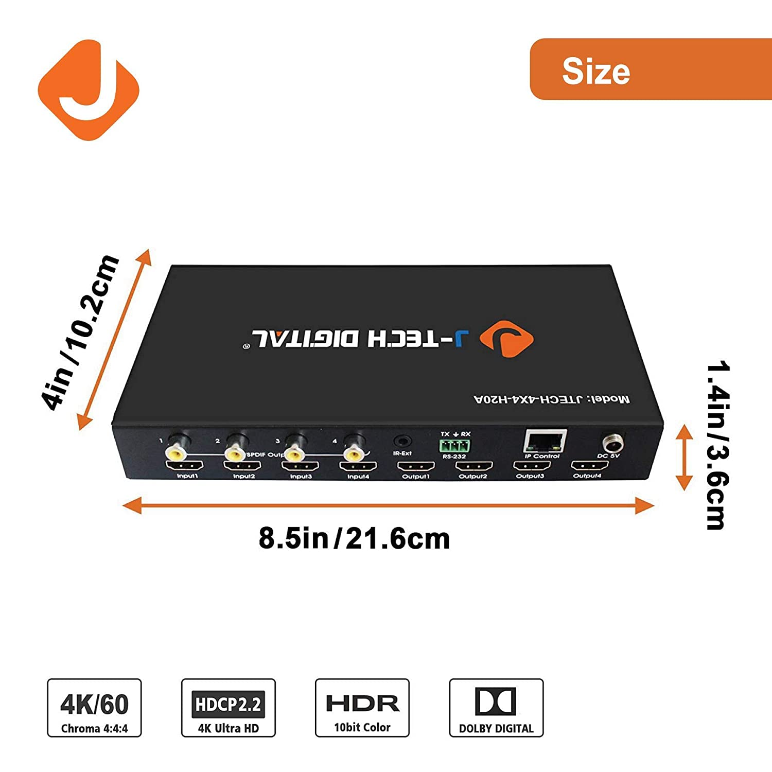 J Tech Digital Proav Hdbaset Hdmi 20 Hdcp 22 4k 4x4 Details About Cat5e Cat6 Matrix Auto Switch Splitter Extender Switcher With 4 Poe Receivers Over Single 6 Cable Supports