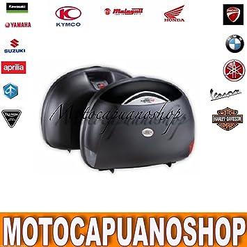 Par Alforjas Moto Rigide Maletas Laterales Kappa K40 negras K40 N no GIVI E41: Amazon.es: Coche y moto