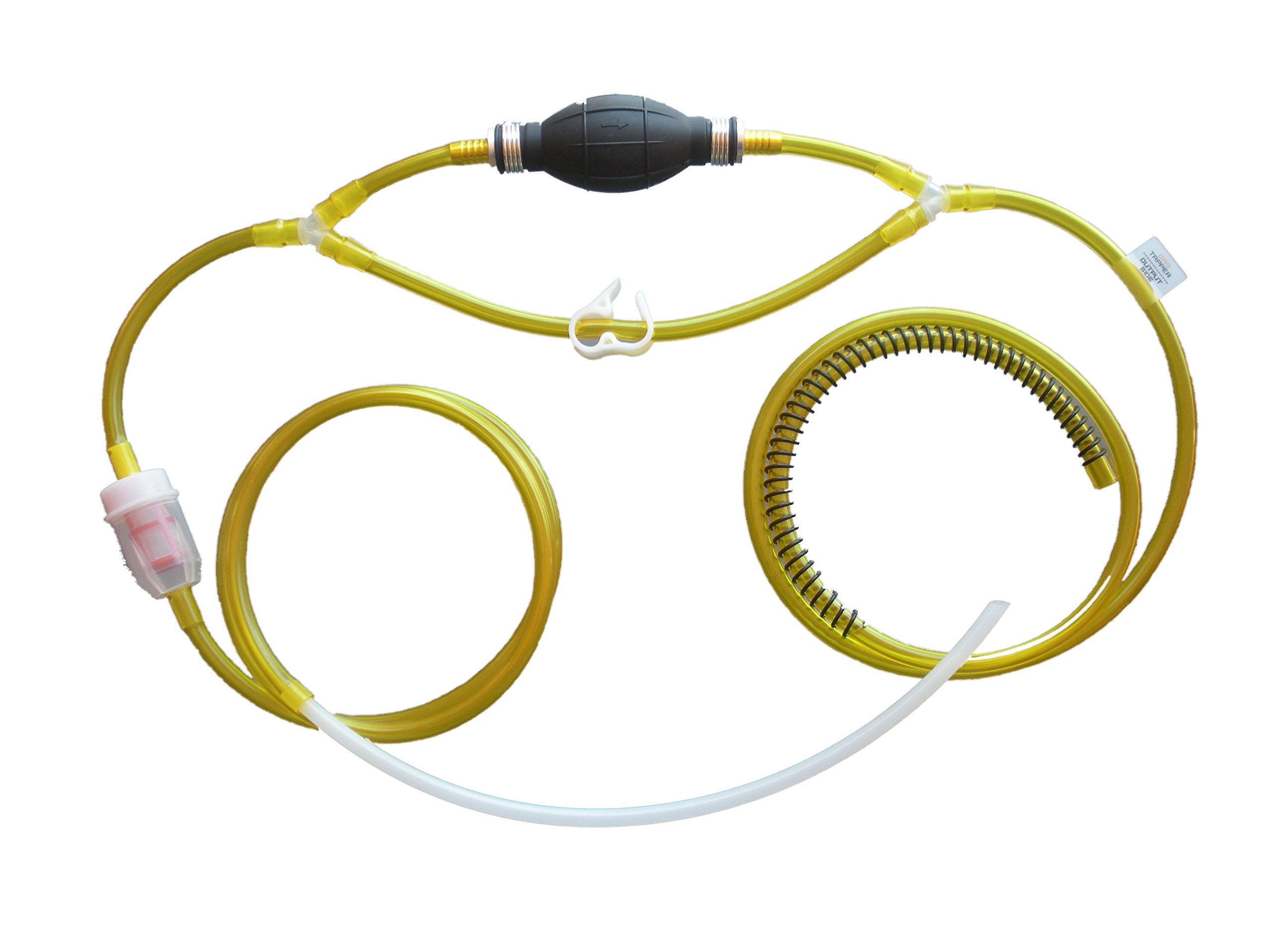 GasTapper (TM) Gravity Model B - Liquid Transfer Gasoline Siphon Pump 9' Feet of Real Fuel Hose - Universal Filter - Made in USA - See All 5 Models - Search for ''Gentap'' in Amazon Search Bar - (See GasTapper Gravity for version w/modern car adapter)