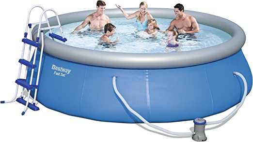 Bestway -12706-kit Fast seet Pool D 366 H 91 + fac + E: Amazon.es: Jardín