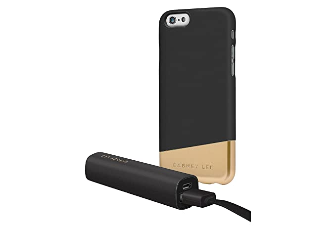 low priced 781dd e6ca6 Dabney Lee iPhone 7 Plus Case & Power Bank - Black/Gold